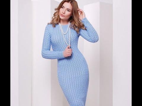 Вязаные Платья Спицами -  модели 2019/ Knitted Dresses Knitting Patterns/ Strickkleider Strickmuster