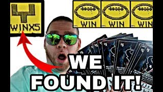 Gambar cover WE FOUND THE GOALPOST! 20X Houston Texans scratch off tickets!