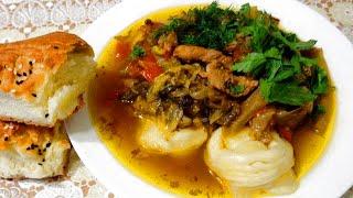 Джунмама (момсяй) - Уйгурская кухня. Обалденное блюдо с пампушками!