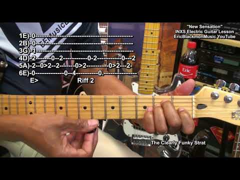 How To Play INXS New Sensation INXS On Guitar Lesson COMPLETE @EricBlackmonGuitar