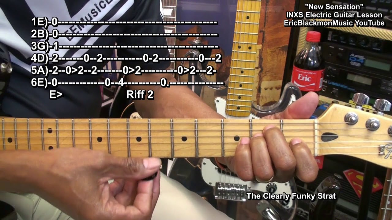 How To Play Inxs New Sensation Inxs On Guitar Lesson Complete