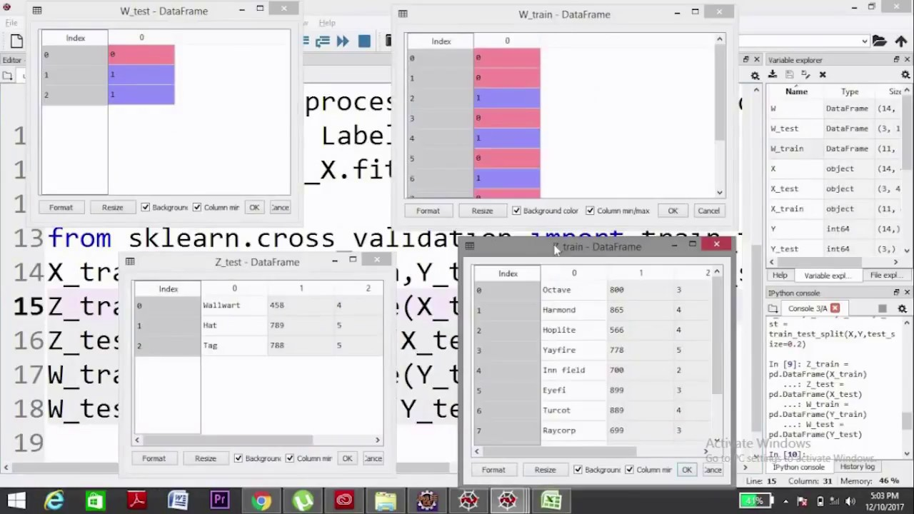 How to split CSV dataset into Training Set and Test Set | Machine Learning  | Python