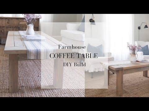 Farmhouse Coffee Table DIY Plans | FARMHOUSE FURNITURE