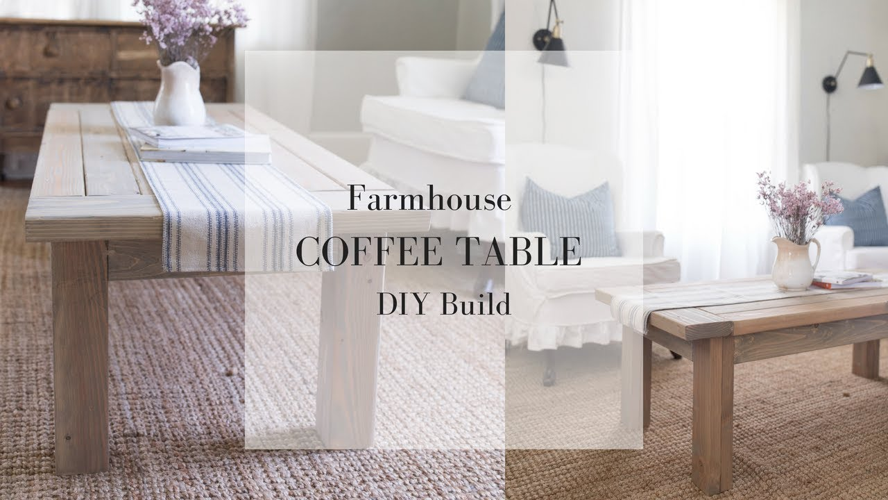 Farmhouse Coffee Table DIY Plans   FARMHOUSE FURNITURE