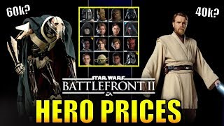 Battlefront 2 Clone Wars Hero Prices! (How Much Will They Be?) - Star Wars Battlefront 2