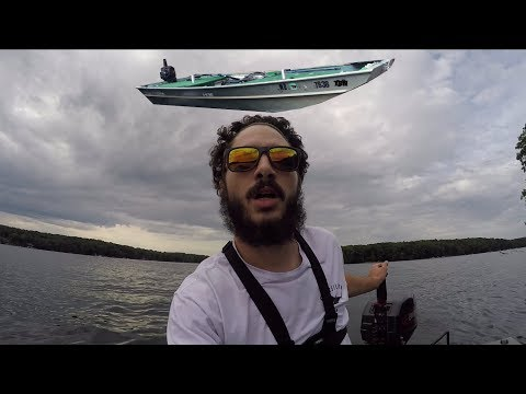 I HAVE The SMALLEST BOAT On The LAKE! DEEP CREEK LAKE FISHING