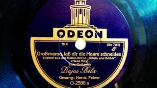 Dajos Bela - Hermann Feiner - Großmama laß dir die Haare schneiden - Foxtrot Sept. 1928