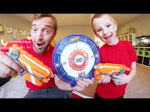 Thumbnail: FATHER SON NERF TARGET TIME! / Laser Beam Attack!
