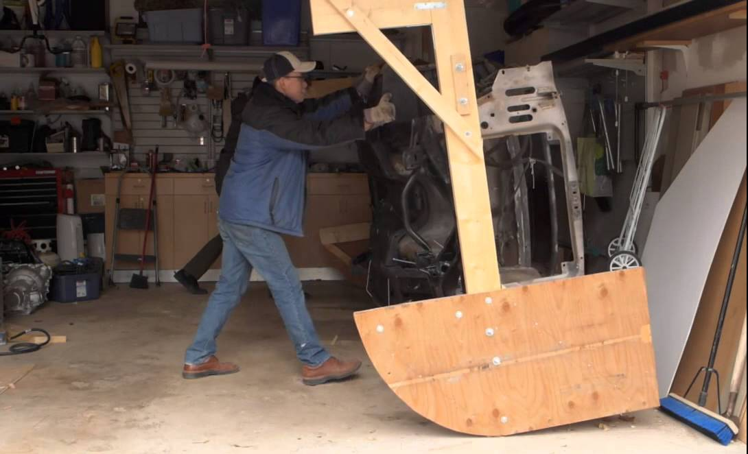 68 Mustang Tip Over Jig Inexpensive Alterative Youtube