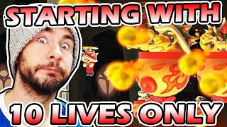 Starting With 10 LIVES ONLY Challenge // Super Mario Maker EXPERT No Skip