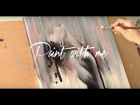 Paint with me | Acrylic on canvas | Speed painting