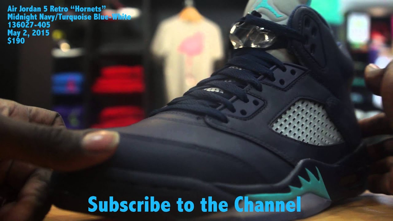 "e7f3ff13965 Air Jordan 5 Retro ""Hornets"" - YouTube"