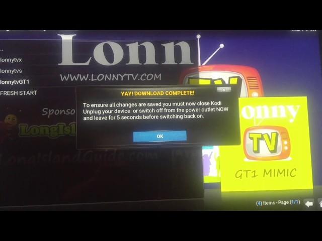 Upgrade to LonnyTV 13.5