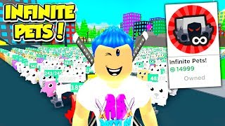 Buying The CRAZIEST INFINITE PET GAMEPASS EVER In Pet Walking Simulator!! (Roblox)