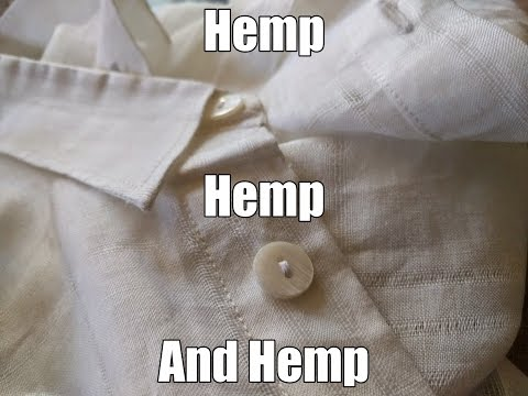 Opening Package of Hemp Clothes