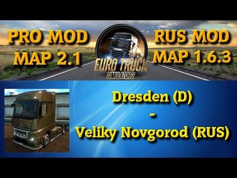 Euro Truck Simulator 2 - Von Dresden nach Veliky Novgorod [RUS Map | Pro Map | Deutsch | Full HD]