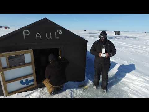 Lake Simcoe ICEFISHING Ice Report Feb,16,2019 PAULS FISH HUTS