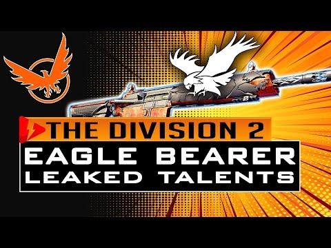 Division 2 EAGLE BEARER TALENTS LEAKED - RAID EXOTIC ASSAULT RIFLE