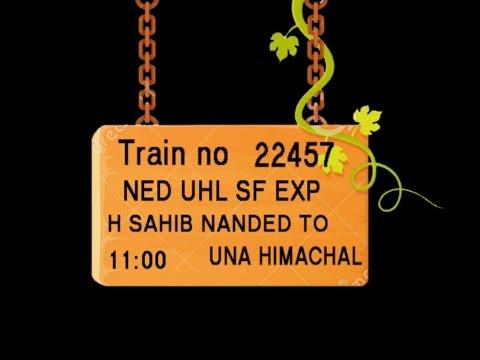 Train NO 22457 Train Name NEDUHL SFEXP HSAHIBNANDED PURNA BASMAT  HINGOLIDECCAN WASHIM AKOLA