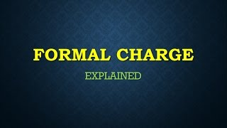 #FORMAL CHARGE_ IIT_ JAM_ CHEMISTRY_ CHEMICAL BONDING (INORGANIC CHEMISTRY)_ (HINDI/ENGLISH)