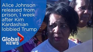'Take me home': Alice Johnson released from prison after Trump commutes sentence