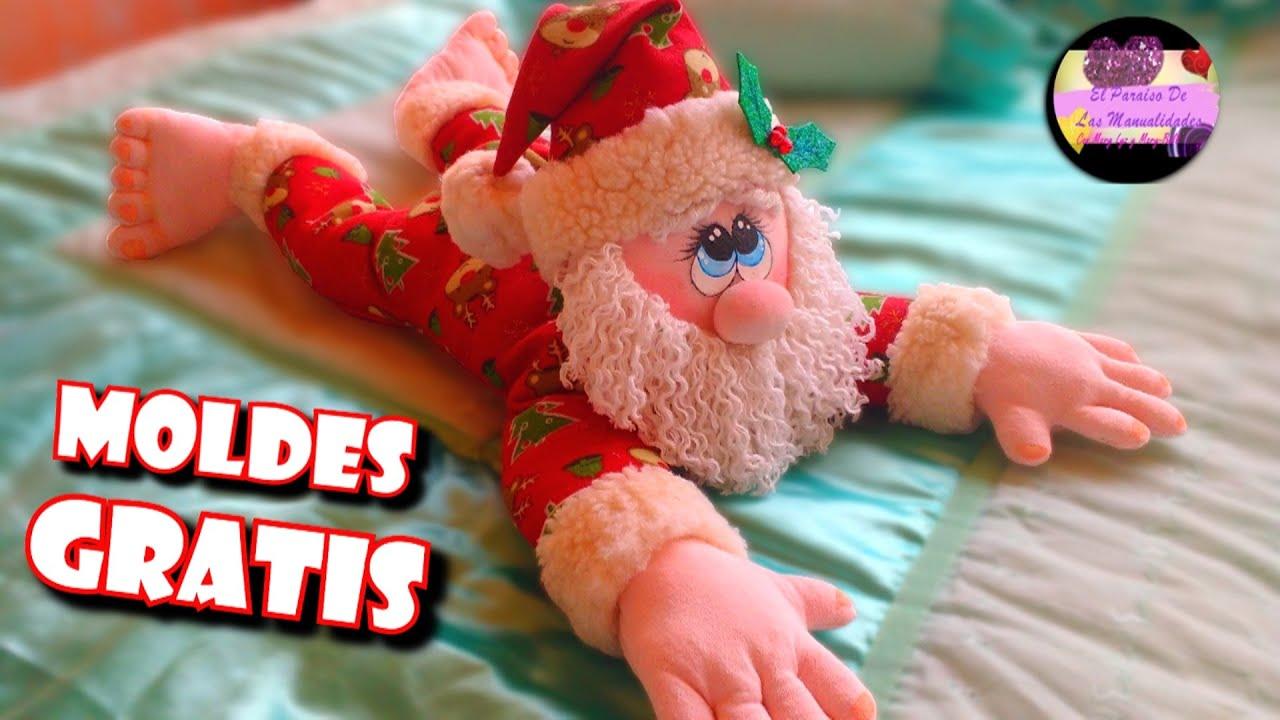 Imagenes Gratis De Papa Noel.Cojin Porta O Guarda Pijama De Papa Noel Con Cierre O Cremallera Moldes Gratis Epdlm