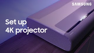 How To Set Up Your Premiere LSP7T Or LSP9T 4K Projector | Samsung US