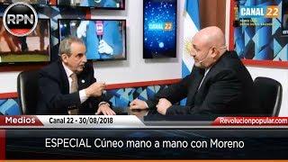 ESPECIAL Cúneo mano a mano con Moreno