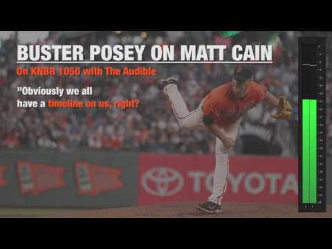 Buster Posey talks about rooting for Matt Cain to have success in 2017