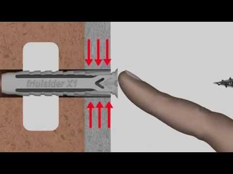 Friulsider X1 Multi Purpose Anchor Nylon Plug Youtube