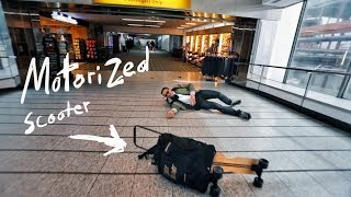 Motorized Scooter CRASH in an Airport