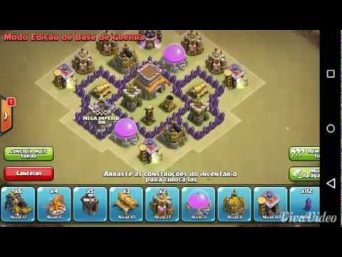layout cv4 guerra th4 war clash of clans - Layout Cv 4 Clash Of Clans