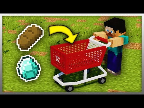 ✔️ Working SHOPPING CART in Minecraft!