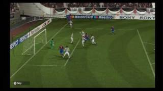 Pro-Evolution Soccer 2010 (Wii) Gameplay: Juventus v. Barcelona (First half)