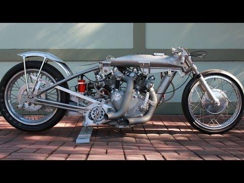 Vincent Motorcycle Dragster Barn Job Rapide Not Black Shadow Drag Racer