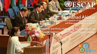 Executive Secretary Welcome and Policy Address to 71st Commission Session