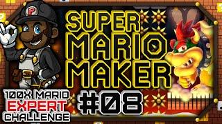 100x Mario Challenge - EXPERT COURSES | Super Mario Maker #08 (Let's Play Wii U Gameplay)