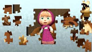 Masha and The Bear Fun Jigsaw Puzzle Video with Nursery Song For Kids