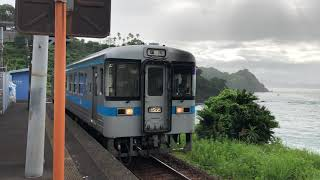 JR四国 土讃本線 安和駅 夏の朝の風景