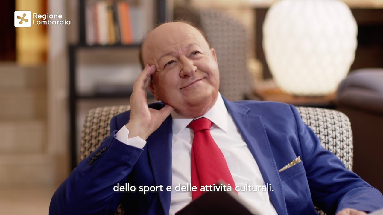 Massimo Boldi promuove gli indennizzi da 167mln di Regione Lombardia -  YouTube