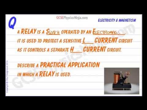 GCSE Physics Relays YouTube - Relay switch gcse