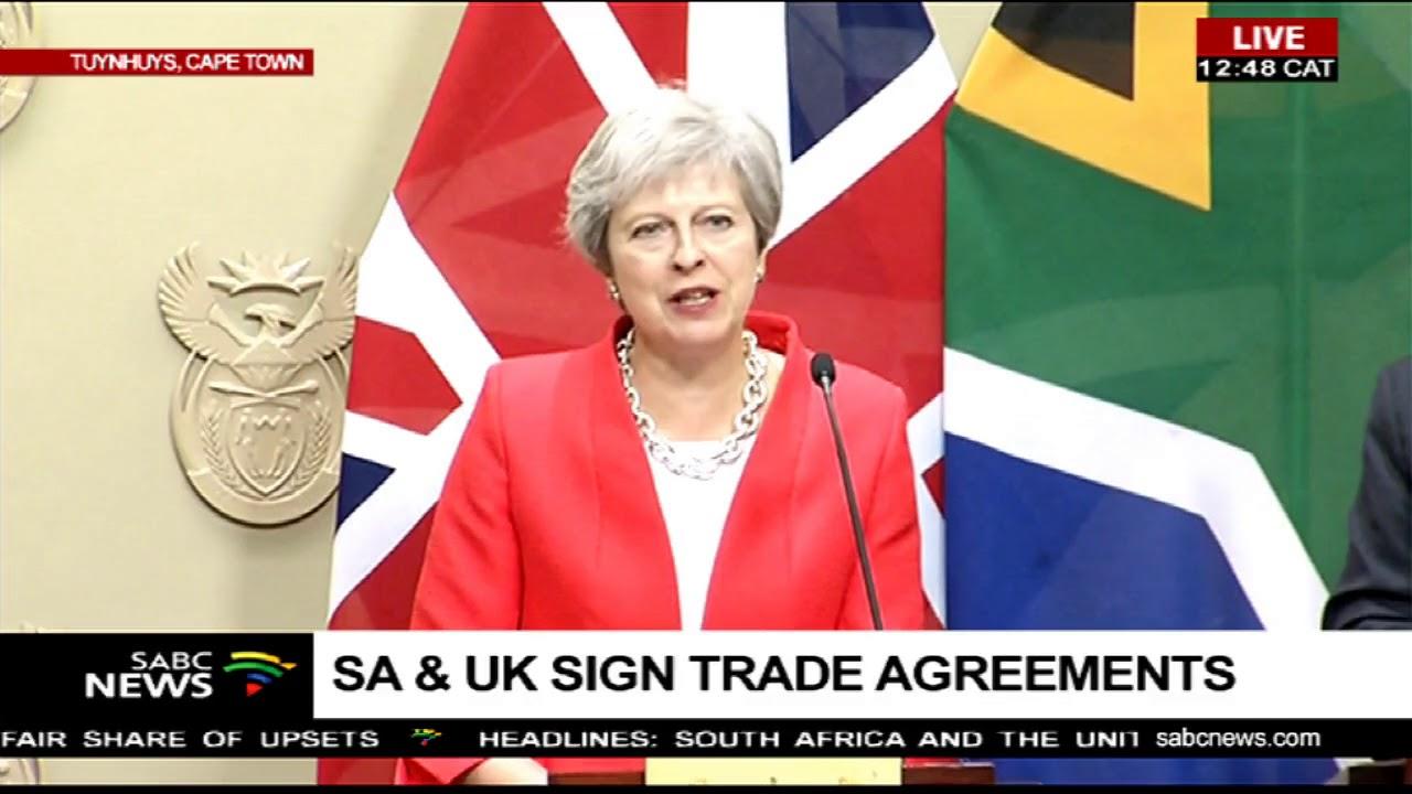 Sa Uk Sign Trade Agreements Youtube