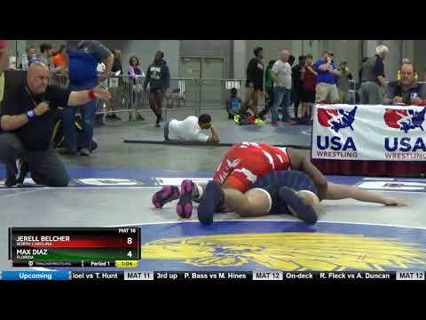 Junior Men 285 Jerell Belcher North Carolina Vs Max Diaz Florida