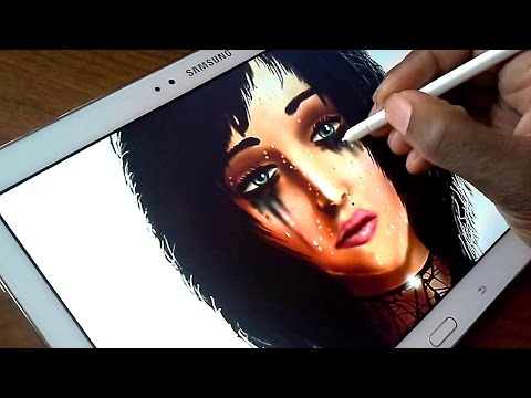 Drawing with John on a Samsung Galaxy note 10.1 2014 Edition