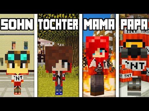 TNT FAMILIE IN MINECRAFT - VOM BABY ZUM TNT