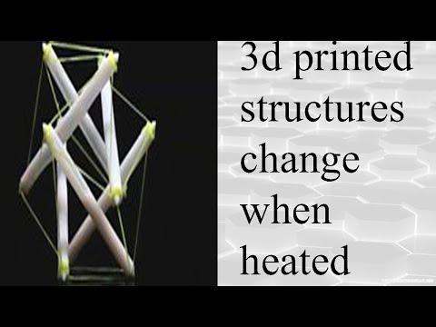 3D-printed structures change shape when heated.three dimensional version