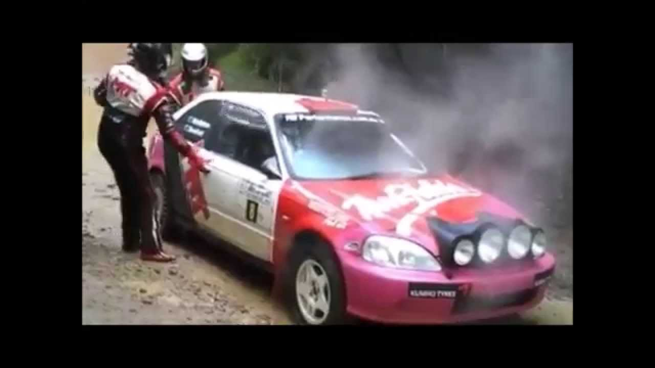 Honda Civic Rally Drivers Eyes See What Happens At The End