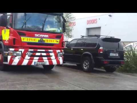 FIRE: Major Fire In Store-It In Ballymount, Dublin Video 2
