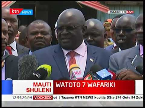 CS Magoha condoles with families that lost children after building at Precious Talent collapsed