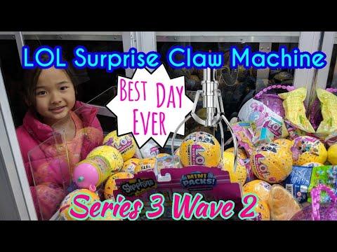 GIANT LOL Claw Machine NEW Wave 2 Confetti Pop Found!!
